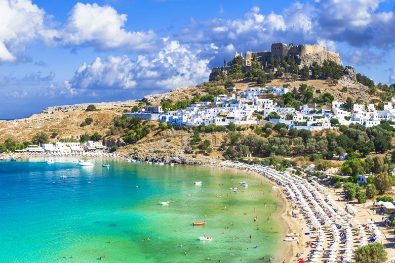 Village of Lindos in Rhodes