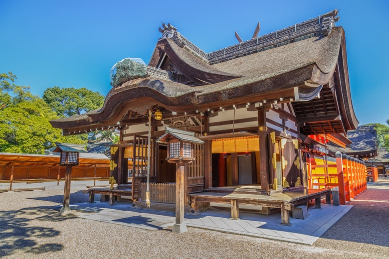 Sumiyoshi-taisha Shrine in Osaka