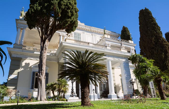 Achilleion Palace Museum in Corfu