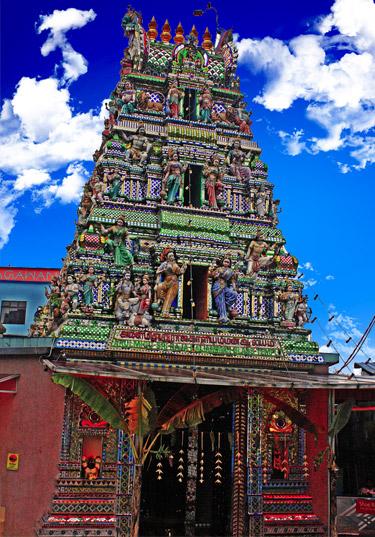 Arulmigu Sri Rajakaliamman Glass Temple in Johor Bahru