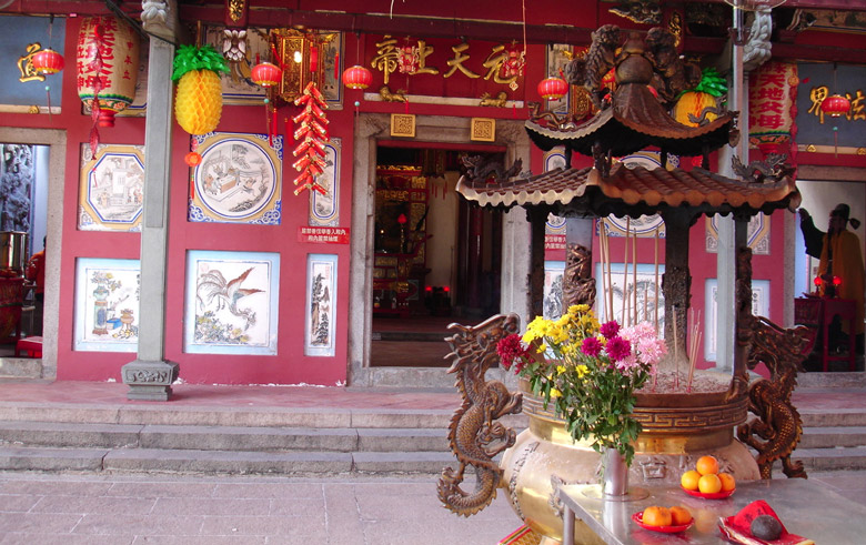 Johor Old Chinese Temple in Johor Bahru