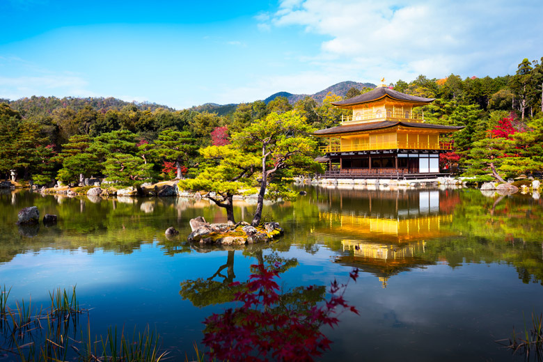 Temple of the Golden Pavilion in Kyoto