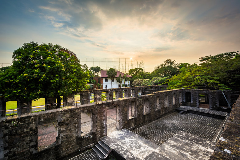 Intramuros Fort Santiago in Manila