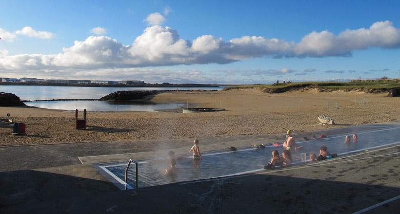 Nautholsvik Geothermal Beach in Reykjavik