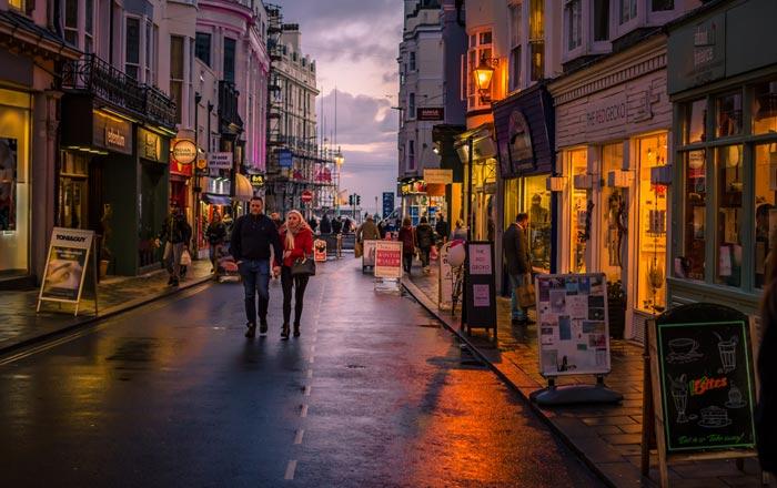 The Lanes in Brighton