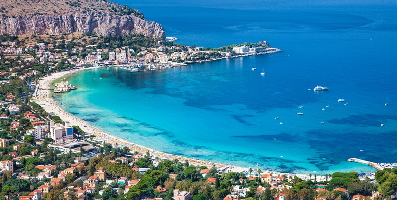 Mondello Beach in Palermo
