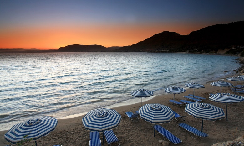 Pefkos Beach in Rhodes