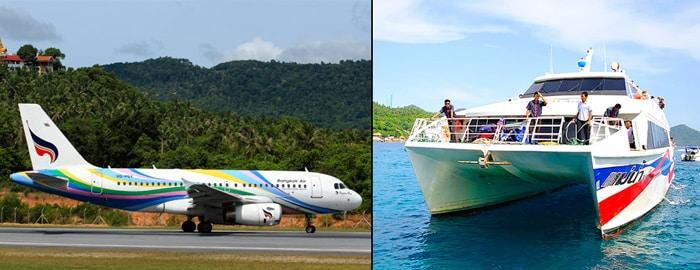 De Bangkok a Koh Tao en avión y en ferry