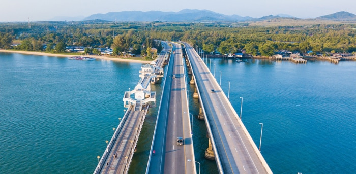 Sarasin Bridge, the bridge connecting Phuket with the mainland