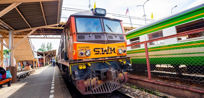 Train at Railway Station Surat Thani