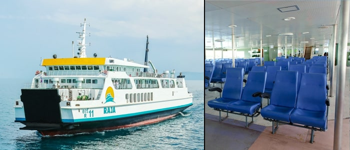 Koh Samui to Koh Tao by normal ferry and high-speed ferry via Koh Phangan