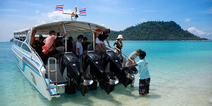 Krabi to Koh Phi Phi by shared speedboat