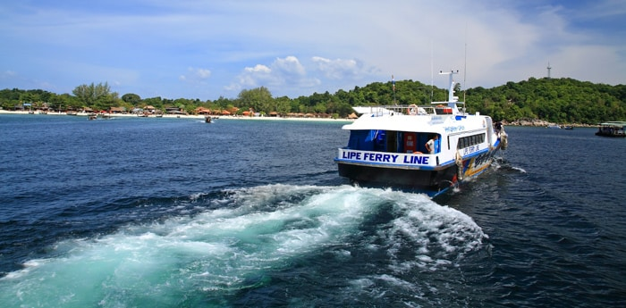 Langkawi to Koh Lipe by connecting ferry