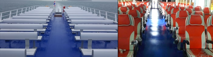 Lomprayah Catamaran - Seating Options