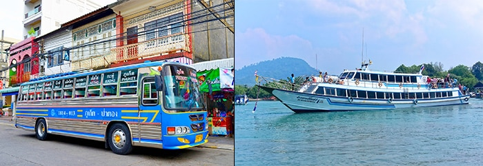 Phuket to Koh Lanta by bus and ferry