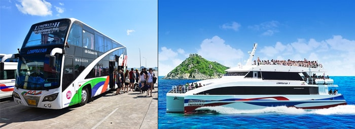 Surat Thani to Koh Phangan by bus and catamaran