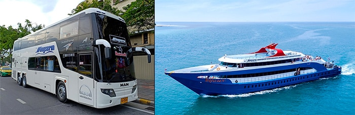 Surat Thani to Koh Phangan by bus and high-speed ferry