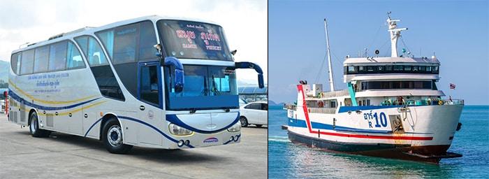 Da Surat Thani a Koh Phangan con l'autobus e il traghetto normale