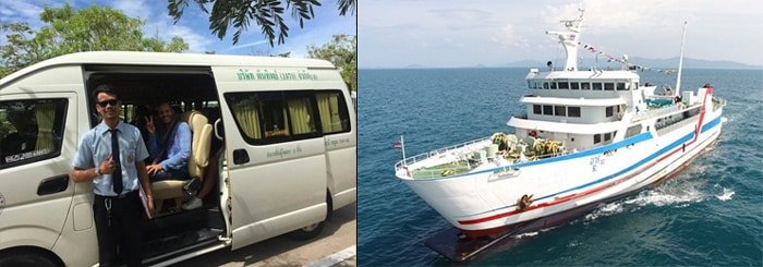 Surat Thani to Koh Phangan by VIP coach and ferry