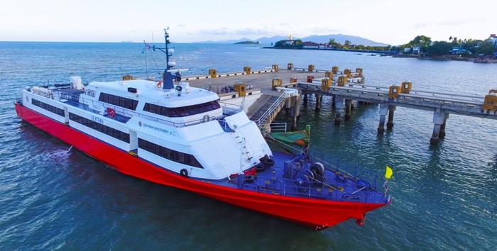 Surat Thani naar Koh Samui met de hogesnelheidsveerboot