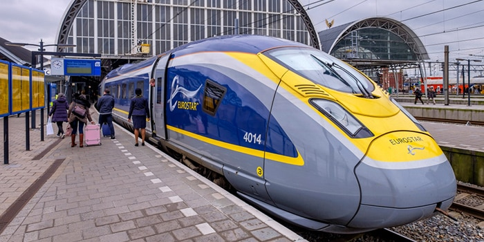 Amsterdam to London by high-speed train