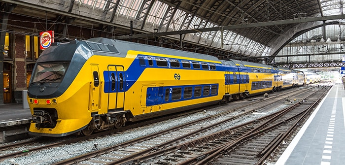 Amsterdam to London by train