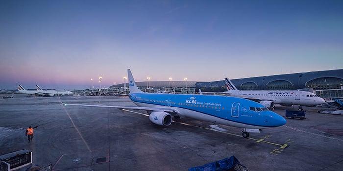 Amsterdam to Paris by plane