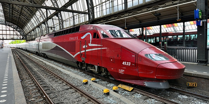 Amsterdam to Paris by high-speed train