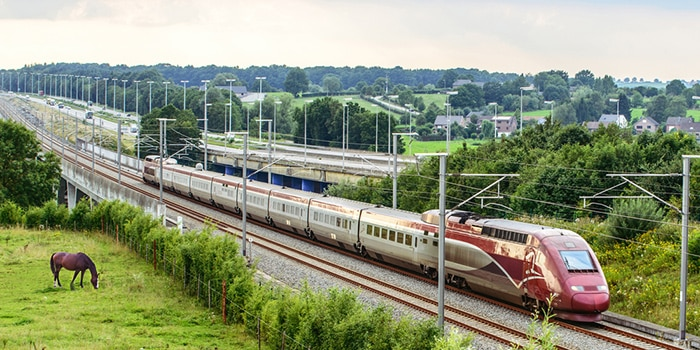 Brussels to Paris by high-speed train