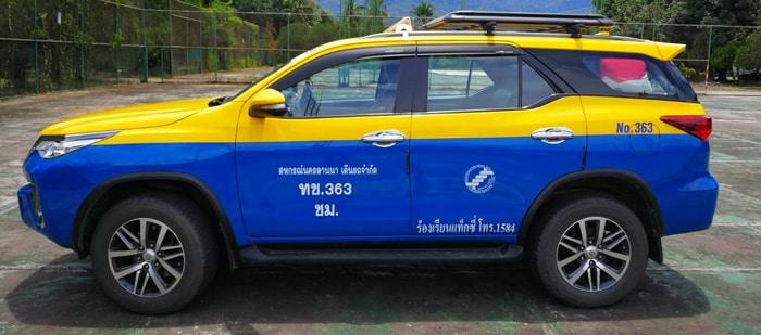Chiang Mai to Chiang Rai by taxi