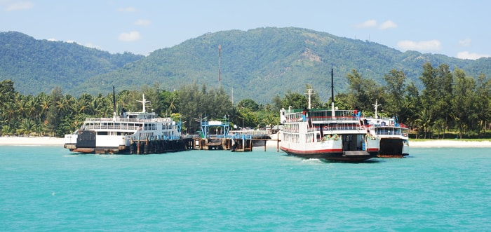 Donsak Pier in Surat Thani