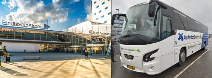 Из Эйндховена до Амстердама на автобусе, отправляющемся из аэропорта