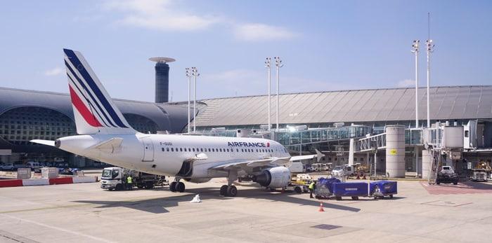 London to Paris by plane