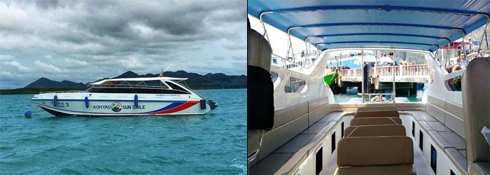 Phuket to Krabi by speedboat