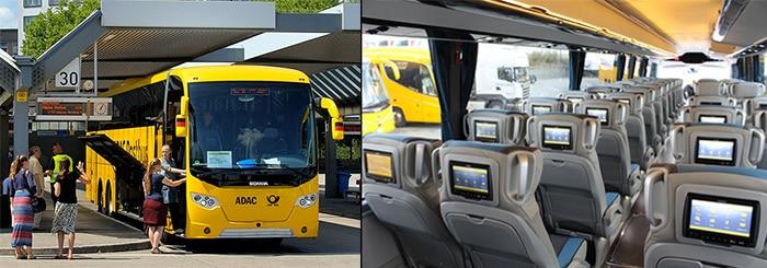 RegioJet Bus going from Berlin to Prague