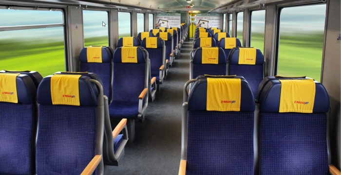 Regiojet Standard Seating