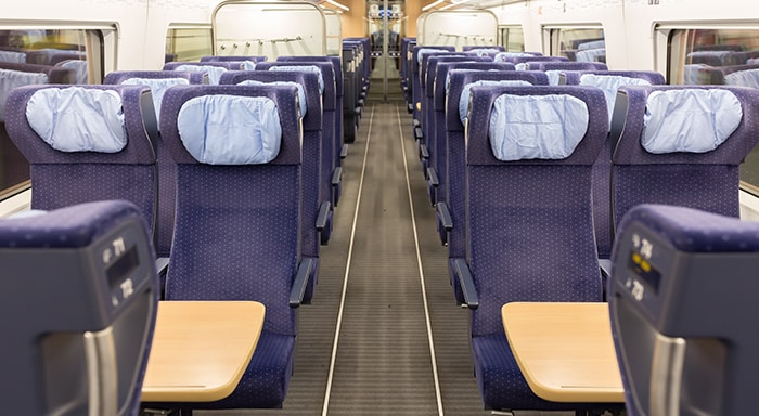 Seating in intercity 2nd class
