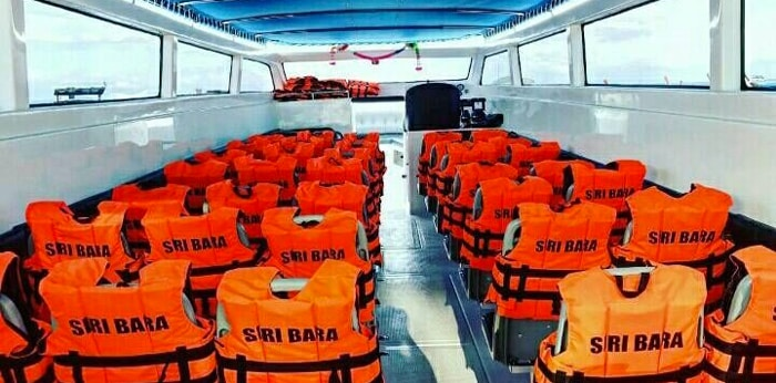 Seating in a Silaphat Transfer boat