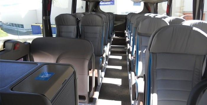 Seats in a BlaBlaBus bus