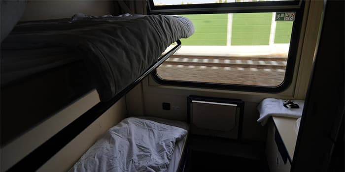 Standard Suite in a Sleeper Train going to Budapest