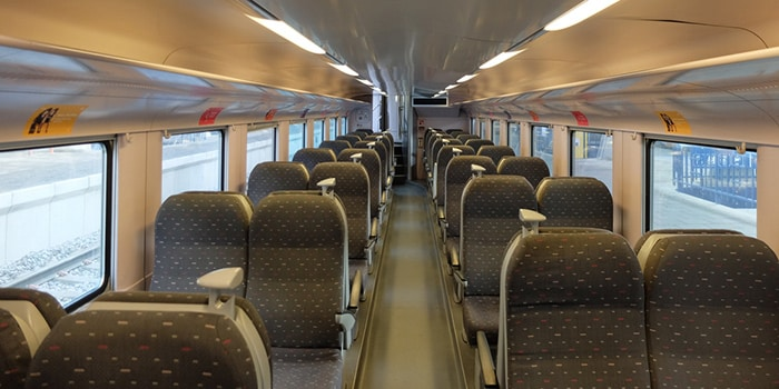 Interior of an SNCB train
