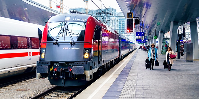 Vienna to Salzburg by train