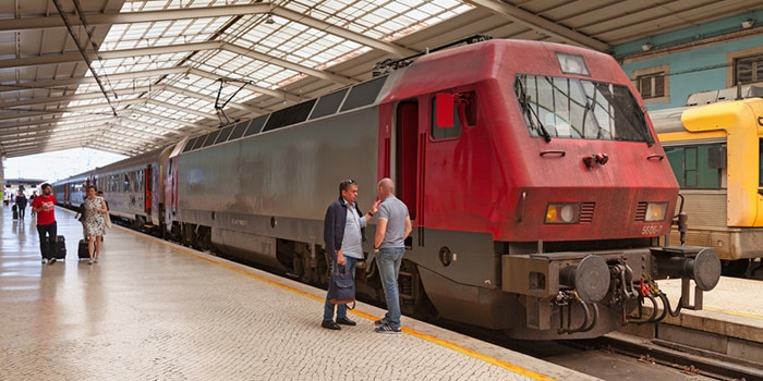 Faro to Lisbon by train