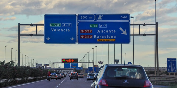 Madrid to Valencia by car