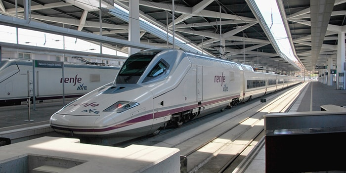 Madrid to Valencia by high-speed train