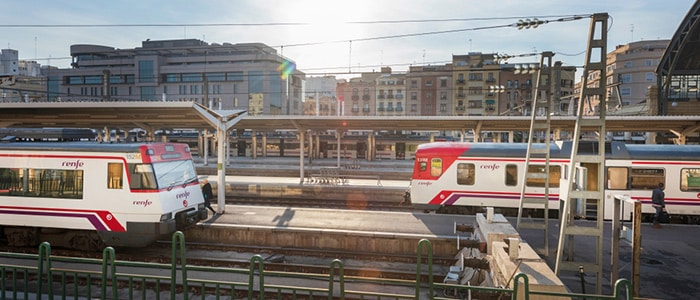 Madrid to Valencia by regional train-