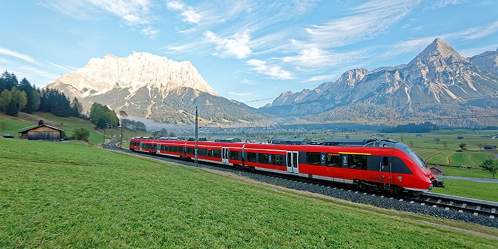 Munich ke Salzburg menaiki keretapi