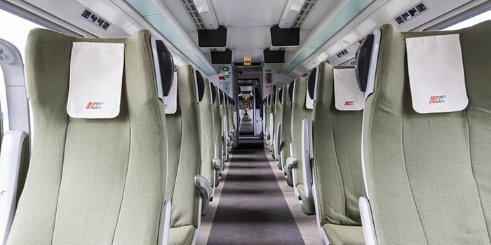 Pendolino seating