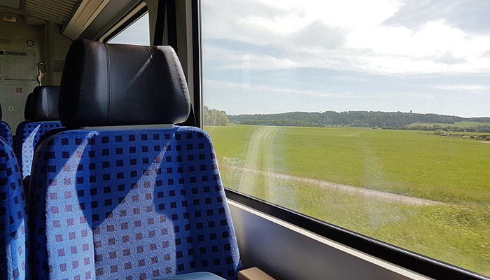 Seating in an OBB train