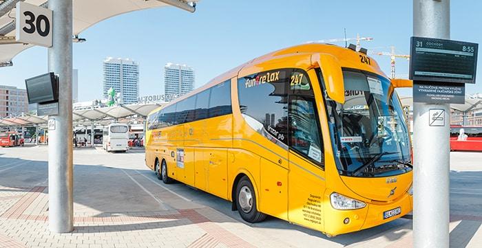 Vienna to Bratislava by bus